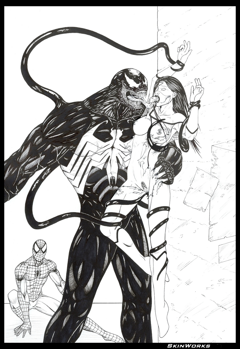 characters spider man shadows of symbiote web Post nuclear family