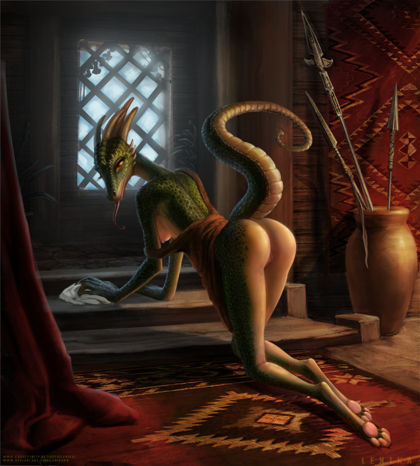 maid cosplay lusty the argonian E621 lady and the tramp